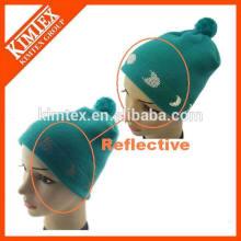 Вязаная акриловая светоотражающая шляпа