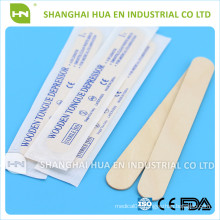 Sterile disposable wooden tougue depressor