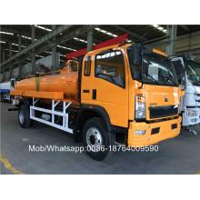 8CBM LHD 4X2 Канализационный вакуумный грузовик