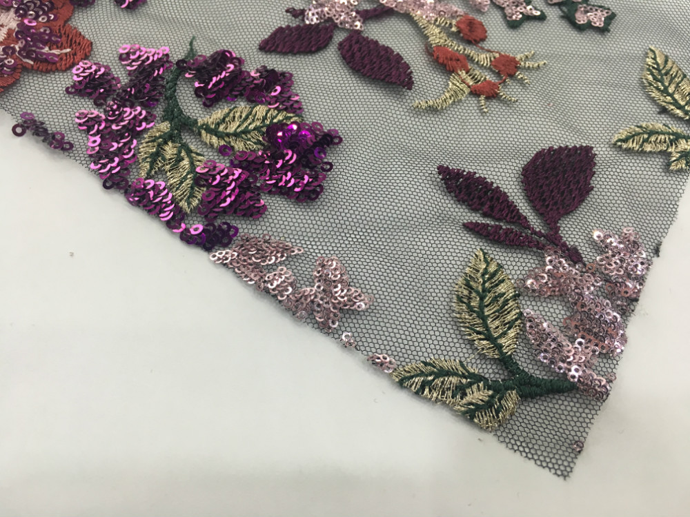 Paillette Embroidery Fabric