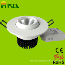 COB 7W Dimmable Recessed LED Down Light with CE, RoHS Approved