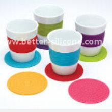 Promoção Cadeia Silicone Rubber Cup Mat