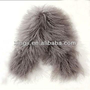 Piel de cordero teñida en color para chaqueta con forro de piel de cordero