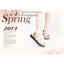 Fashion wedge heel lady casual sandal shoes