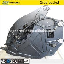 Excavator grab bucket