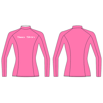 Seaskin Pink Long Sleeve plussize RashGuard Swim