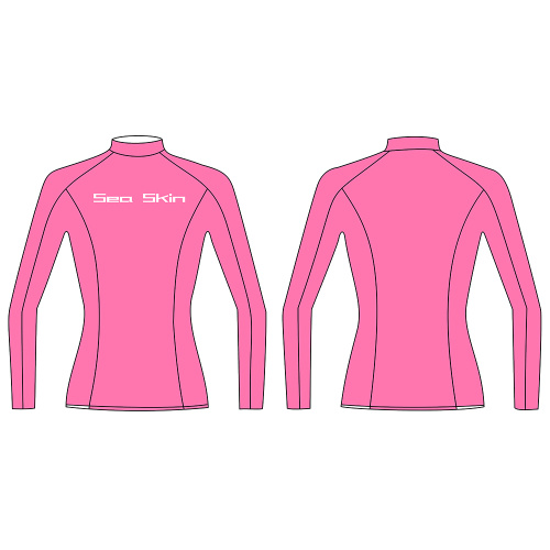 Seaskin Polyester Long Sleeve Rash Guard Mujer