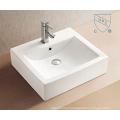 Bathroom Rectangular Shape Art Ceramic Porcelain Hand Wash Sink Basin
