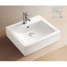 Badezimmer-rechteckige Form-Kunst-keramisches Porzellan-Handwäsche-Wannen-Becken