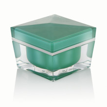 20/30/50ml light green luxury plastic cream jar cosmetic packaging cream jar with light green screw cap hot sale