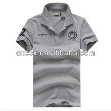 13PT1043 Men's plain color cotton polo shirt design