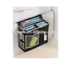 Bedside Storage Caddy Arm Chair Mattress Magazine Remote Phone Tissue Holder Organizer