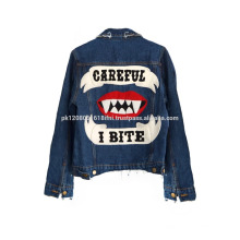 custom made printed jeans jacket unisex