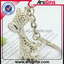 Strass métal girafe porte-clés best-seller