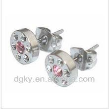 Piercing orelha magnética, aço inoxidável jóias orelha studs
