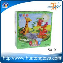 2016 New design animal zoo building blocks toys for kids