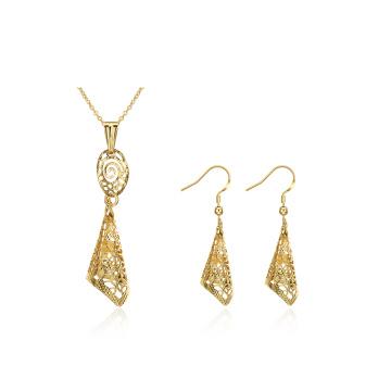 Conjuntos de collar y aretes de joyas de oro de moda