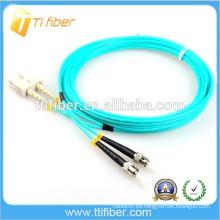 Cable de fibra óptica 3.0mm 50/125 OM3 duplex SC-ST Patch Leads