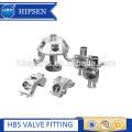 Biopharmaceutical multi-port stainless steel diaphragm valve