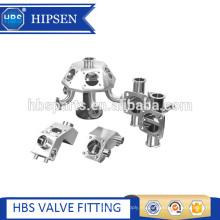 Válvula sanitaria de la muestra del diafragma de la abrazadera del acero inoxidable de múltiples puertos