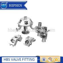 Válvula de amostra de diafragma de braçadeira de aço inoxidável sanitário multi-porta