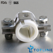 Sanitary Hex Pipe Hanger with Insert