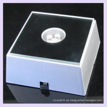 Base de plástico LED luz Multi Color para pantalla de cristal grabado Laser 3D
