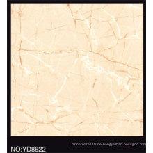 Voll polierte beige Farbe glasierte Porzellanfliese 600X600mm