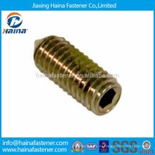 DIN914 углеродистая сталь оцинкованная шестигранная головка установочный винт с конусом