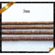 Темный Золотой квадрат срез Heishi Железный бисера ювелирные изделия (GB0109)