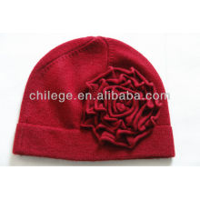 ladies winter knitted cashmere caps/hats