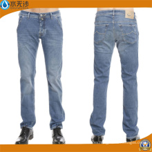 Brand Mens Jeans Slim Straight Pants Denim Trousers para Hombres