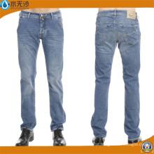Marca Mens Jeans Slim Calças Retas Calças Jeans para Homens