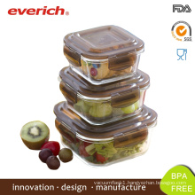 Wholesale Microwave Safe Borosilicate Square Glass Lunch Box