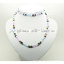 Habillage Hematite De Mode Avec Perles En Tube Rainbow