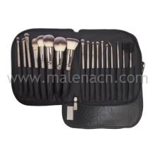 18PCS / Set cepillos belleza herramientas conjuntos con bolsa portátil suave
