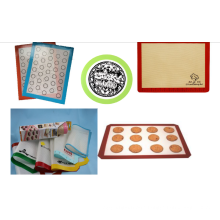 FDA LFGB SGS heat resistant silicone pastry pan mat with measures
