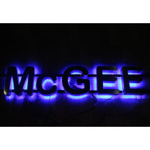 Halo Lit Metal Letters for Signs