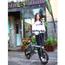 Manufacturer China 16inch Mini Folding City ebike Foldable Lion Lithium Battery 36V 7.8ah throttle Electric bike