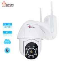 Скоростная купольная IP-камера PTZ 4X с автоматическим отслеживанием