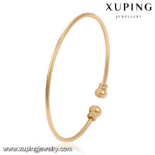 51495 brazalete de oro Xuping diseña brazaletes de latón de mujer al por mayor