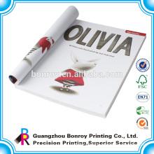 Custom printing fashion and colorful Soft cover UV cover custom journal books