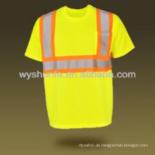 Neue Straßenverkehrssicherheit Kleidung reflektierende Sicherheit Kleidung Mesh hallo-vis T-Shirt