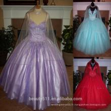 Robe de soiree Robe de mariée à la quinceanera et dragueur embedded Embellie Appliques Tull Robe de bal Robe de quinceanera P7041