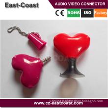 couple of lover 3.5mm stereo male to 2X female splitter av connector