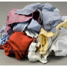 Trapos de limpieza de algodón coloridos usados