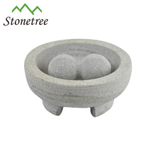 Wholesale New Chinese Lava Stone Mortar & Pestle Granite Molcajete