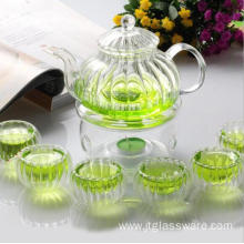 Glass Tea Set- Glass Pumpkin Shaped Teapot