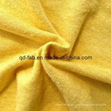 Hemp / algodão orgânico / bambu Jersey para t-shirt (QF13-0347)