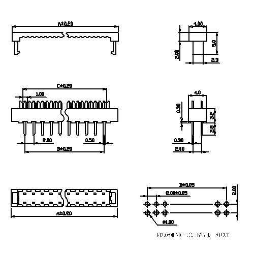 FDCS01 2.00mm DIP Plug Connector-Model
